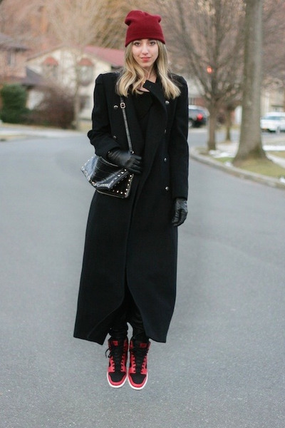 ruby red sky high wedges nike sneakers - black long Ralph Lauren coat
