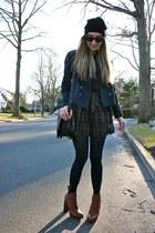 black beanie Ralph Lauren hat - tawny platforms Alexander Wang boots