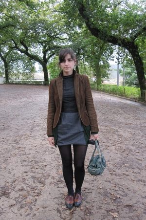 Zara blazer - Zara sweater - Zara dress - Calzedonia tights - ramdom purse - 9we