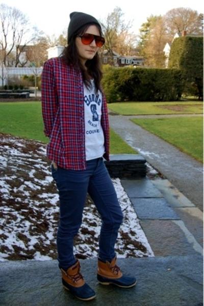 Gap shirt - second hand shirt - Cheap Monday jeans - second hand boots