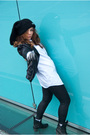 Black-zara-jacket-black-only-leggings-blue-random-brand-shirt-black-river-