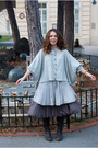 Gray-vero-modaonly-sweater-beige-h-m-dress-brown-miss-selfridges-skirt-bro