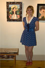 Blue-urban-outfitters-dress-beige-kohls-tights-red-anthropologie-shoes