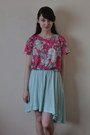 Aquamarine-dress-as-skirt-h-m-dress-hot-pink-new-look-shirt