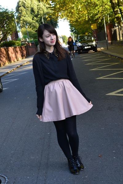 H&M skirt - Topshop shoes - Zara shirt - H&M cardigan