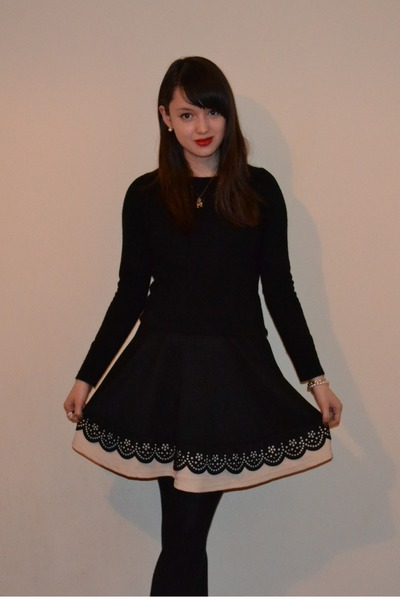 black Primark jumper - black lovemark Yesstyle skirt