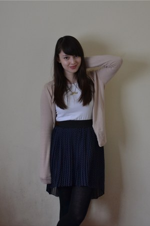 white Primark shirt - light pink H&M cardigan