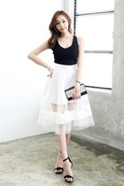 *Korean-Asian Fashion Mall* WHITE DRESS SKIRT from SPICY AVENUE