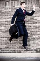 Perry Ellis suit - Hermes tie - Burberry shirt - Via Spiga shoes - Gap accessori