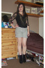 Black-new-look-top-black-new-look-top-gray-h-m-shorts-black-chockers-shoes