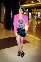blazer - shorts - shoes - top - purse