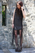 black Black Milk Clothing top - black Jeffrey Campbell shoes