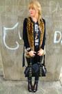 Black-studded-primark-bag-black-faux-leather-love-label-pants-dark-gray-prim