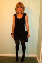 black River Island dress - black Topshop shoes - black Ebay bag