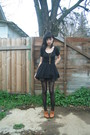Black-crossroads-dress-black-sock-dreams-tights-black-target-shoes-crimson