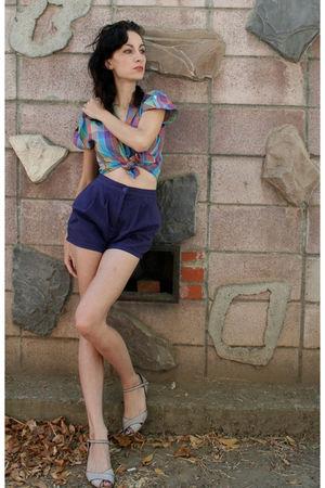 purple Crimson and Clover shorts