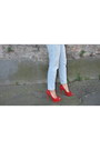 Red-shoes-buffalo-heels-new-look-jeans-sheinside-bag-river-island-t-shirt