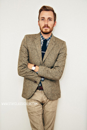 light brown herringbone H&amp;M blazer