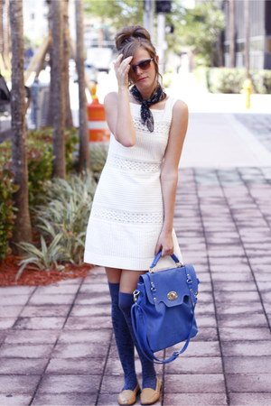 blue francescas collections bag - white Tea and Tulips dress