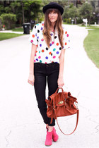 hot pink Tea and Tulips blouse - hot pink DV by dolce vita boots