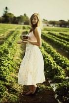 thrifted vintage shirt - thrifted vintage bag - thrifted vintage skirt - H&M fla