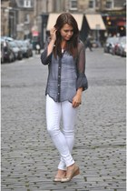James Jeans jeans - Hugo Boss blouse - Hispanita wedges
