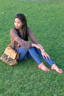 Blue-levis-jeans-brown-random-from-singapore-bag-salmon-payless-sandals