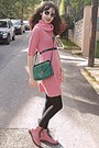 Bubble-gum-oasap-boots-bubble-gum-dress-green-bag-black-romwe-sunglasses