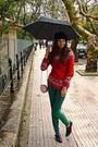 Black-vintage-shoes-ruby-red-snowflake-sweater-ruby-red-snowflake-bag