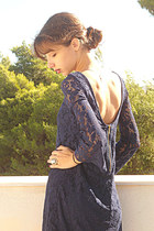 navy lace Zara dress