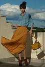 Mustard-lulus-bag-burnt-orange-h-m-boots-sky-blue-denim-stradivarius-shirt