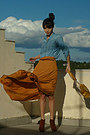 Burnt-orange-h-m-boots-sky-blue-denim-stradivarius-shirt-mustard-lulus-bag