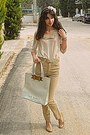 Cream-ted-baker-bag-camel-pants-cream-chicwish-blouse-camel-heels