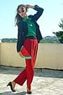 Black-blazer-red-watermelon-diy-bag-red-pants-black-pumps