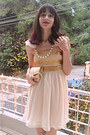 Gold-vintage-dior-purse-cream-sequins-chiffon-dress
