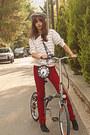 Black-polka-dot-dorothy-perkins-dress-ruby-red-stradivarius-jeans