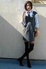 Black-knee-high-socks-heather-gray-stradivarius-dress-navy-tie