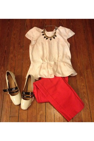 H&M shirt - Target pants - asos loafers - Forever21 necklace