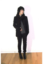 Mexx blazer - sweater - American Apparel pants - boots - American Apparel gloves