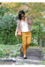 Pink-and-gold-forever-21-jacket-white-zara-shirt-camel-balenciaga-bag
