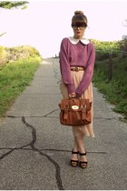 skirt - jumper - wedges
