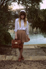 Sportsgirl-hat-tempt-bag-sportsgirl-flats-thrifted-blouse-dotti-skirt