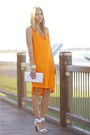 White-reflect-topshop-shoes-orange-bettina-liano-dress-white-vintage-purse