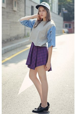 amethyst storets skirt - black storets shoes - white storets hat