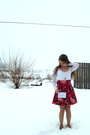 White-delias-coat-white-forever-21-top-red-forever-21-skirt-red-mossimo-sh