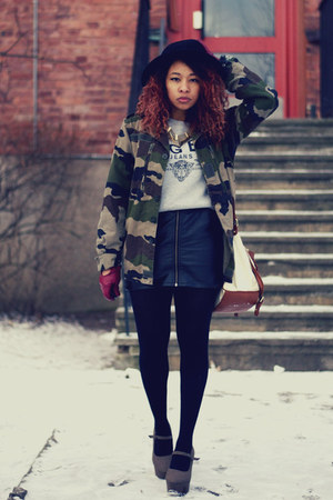 army green vintage jacket - heather gray Tiger of Sweden sweater