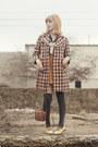 Jacket-skirt-blouse-vintage-flats