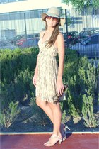 tan H&M hat - beige H&M dress - dark brown Icing sunglasses