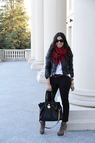 scarf - Sole Society boots - Forever 21 jacket - Michael Kors purse - H&M pants