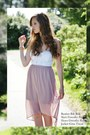 White-bik-bok-top-light-pink-dorothy-perkins-skirt